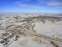 Luverne nel Minnesota ad ovest del sud durante l'inverno fotografia stock