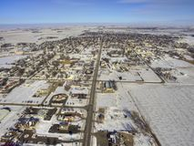 Luverne in South West Minnesota during Winter. Luverne, Minnesota is a small Midwestern Town in South West Minnesota. Taken during Winter with Drone Royalty Free Stock Photography