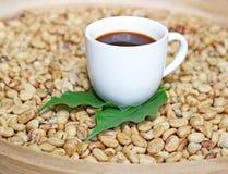 Luwak  beans in a basket Stock Image