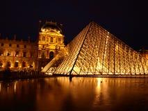 luwr odbicie Paryża france Zdjęcia Royalty Free