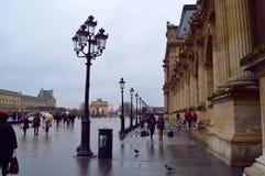 luwr Paryża Obraz Royalty Free