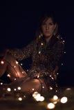 Lux de la estafa del seria de Chica Fotos de archivo libres de regalías