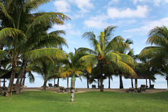 Lux Le Morn Hotel. Le Morn Beach, Mauritius, Africa Stock Photography