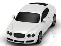 Lux white automobile on a white background Stock Photo
