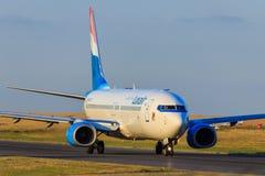 Luxair波音737 免版税库存图片