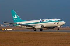 Luxair波音737-5C9 免版税库存图片