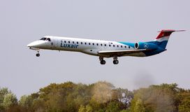 Luxair ERJ-145 Royalty Free Stock Images