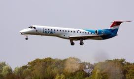 Luxair ERJ-145 imágenes de archivo libres de regalías