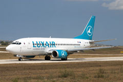 Luxair 737 Royalty Free Stock Photography