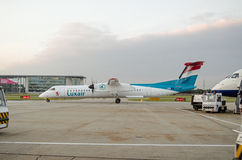 Luxair Plane at City Airport, London Royalty Free Stock Photography