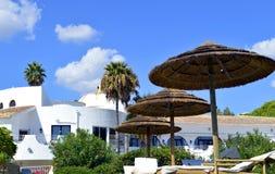 Luxary villa i den Cova Redonda stranden Royaltyfri Bild