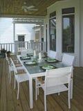 Luxe 4 - het Dineren Terras 1 stock afbeelding