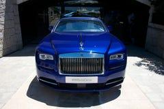 Luxe blauwe auto van Rolls Royce Royalty-vrije Stock Foto's