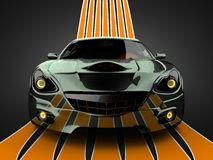 Luxe brandless sportwagen Royalty-vrije Stock Foto