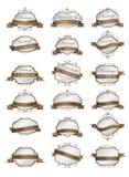 Luxe brow etiketten en leeg etikettenmalplaatje Royalty-vrije Stock Afbeeldingen