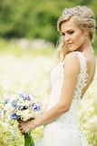 Luxe bruids boeket Stock Foto