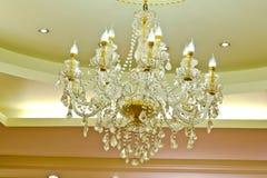 Luxe Crystal Chandelier stock afbeelding
