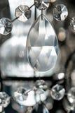 Luxe Crystal Chandelier Sluit omhoog op het kristal stock afbeelding