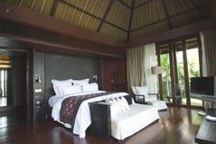 luxe d'intérieur de chambre à coucher Image libre de droits