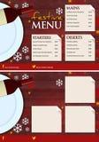 Luxe en Elegant Feestelijk Kerstmismenu Vector Illustratie