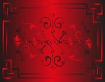 Luxe floral rouge de fond royal de vintage Images libres de droits