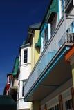 Luxe gekleurd flatgebouw met koopflats in mont-Tremblant Royalty-vrije Stock Afbeeldingen