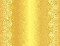 Luxe gouden achtergrond met damast bloemengeklets Royalty-vrije Stock Foto