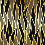 Luxe gouden bloemenbehang Stock Afbeelding