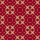 Luxe gouden en rode Chinese achtergrond Aziatische Stijl Ontwerp voor decor, stof Stock Fotografie