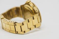 Luxe gouden horloge Stock Afbeelding