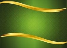 Luxe groen met gouden lijnen vectorontwerp als achtergrond Stock Foto's