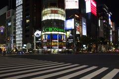 Luxe het winkelen district Ginza Stock Foto's