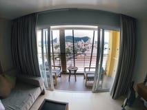 Luxe intérieur d'été d'hôtel thaïlandais de la Thaïlande phuket, maison, vacances, vue, intérieur, maison, station de vacances, v image stock