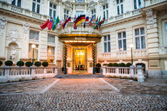 Luxe internationaal Europees hotel Royalty-vrije Stock Foto's