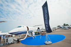 Luxe Jet Gulfstream G550 in Singapore Airshow 2014 Stock Afbeeldingen