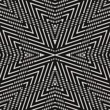 Luxe lineaire achtergrond met strepen, concentrische vormen, die diagonale lijnen kruisen Royalty-vrije Stock Foto