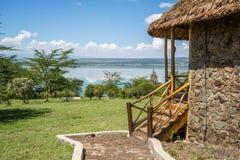 Luxe logeant par le lac Elementaita, Kenya Photo libre de droits