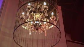 Luxe moderne lamp stock videobeelden
