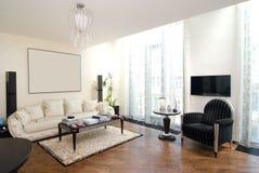 Luxe moderne woonkamer Royalty-vrije Stock Afbeeldingen