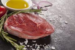 Luxe ruwe biefstuk royalty-vrije stock foto