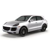 Luxe SUV op witte 3D Illustratie wordt geïsoleerd die Stock Afbeeldingen