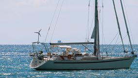 Luxe varend jacht stock footage