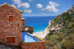 luxe villa met zwembad royalty-vrije stock fotografie