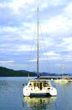 Luxe yatch in Eiland Langkawi Royalty-vrije Stock Foto's
