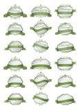 Luxe zachte groene etiketten en leeg etikettenmalplaatje Royalty-vrije Stock Foto's