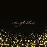 Luxe zwarte achtergrond met gouden lichten Royalty-vrije Stock Afbeeldingen