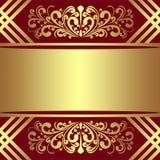 Luxeachtergrond met koninklijk Grenzen en Lint Royalty-vrije Stock Afbeelding