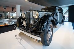 Luxeauto Rolls-Royce Phantom III het Reizen Limousine, 1937 Stock Afbeeldingen