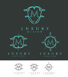 Luxebrief Logo Monogram Royalty-vrije Stock Fotografie