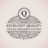 Luxeembleem Kalligrafisch patroon elegant decor stock illustratie